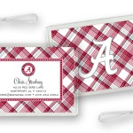 Alabama Plaid Luggage Tags