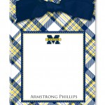 Michigan Collegiate Plaid Tear Away Pad with Bow