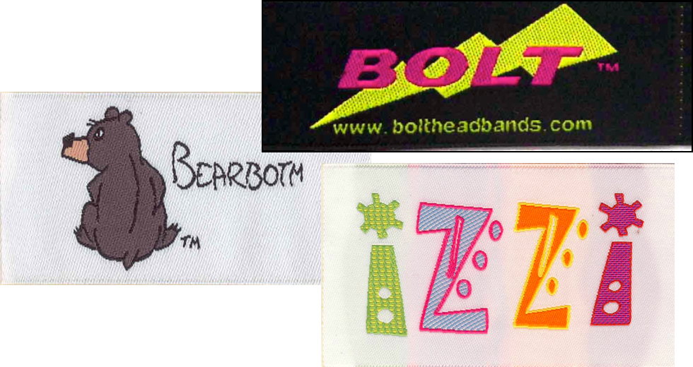 Custom Woven Clothing Labels, Tags, damask, muti-color, Personalized, fabric tags, fabric labels