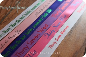 Personalized Ribbon from Thirty Seven West