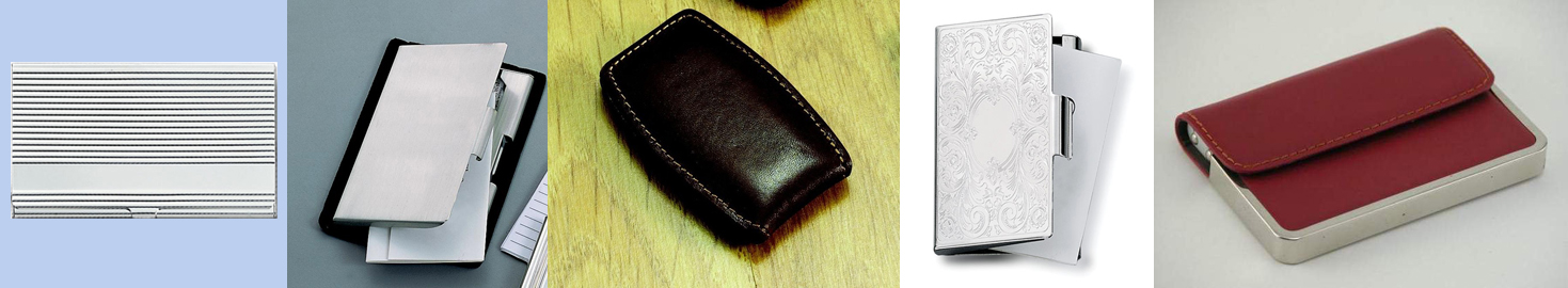 Business Card Cases, Money Clips, Leather, Metal, Personalized, embossed, engraved, gifts for men and women, Corporate gifts,  Valentine's Day gifts