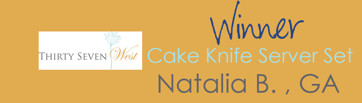 Contest Winner Banner - Cake Knife and Server Set - Natalia B