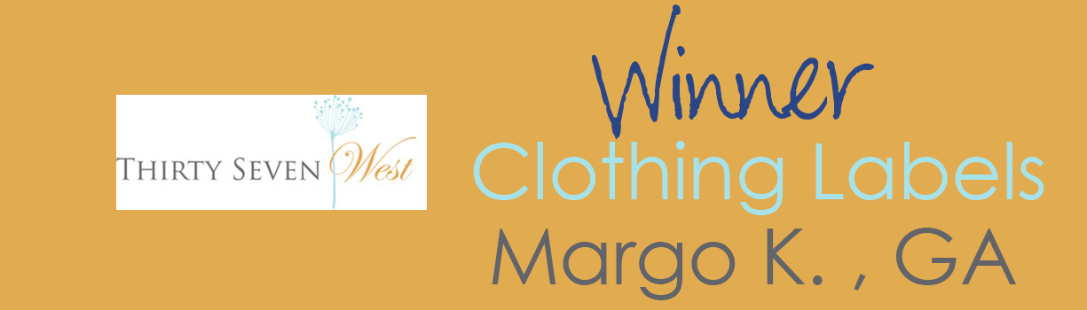 Contest Winner Banner - Clothing Labels - Margo K
