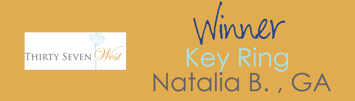 Thirty Seven West February Contest Winner - Key Ring