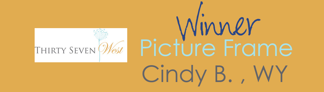 Contest Winner Banner - Picture Frame - Cindy B