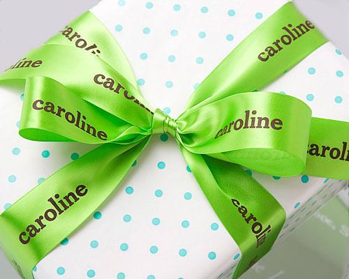personalized birthday ribbon, personalized printed ribbon, satin ribbon