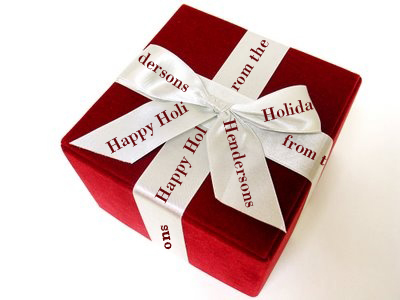 Personalized White Ribbon for Holidays