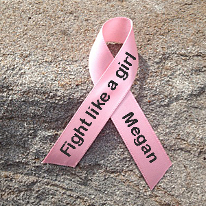 Fight Like a Girl Breast Cancer Awareness Ribbon