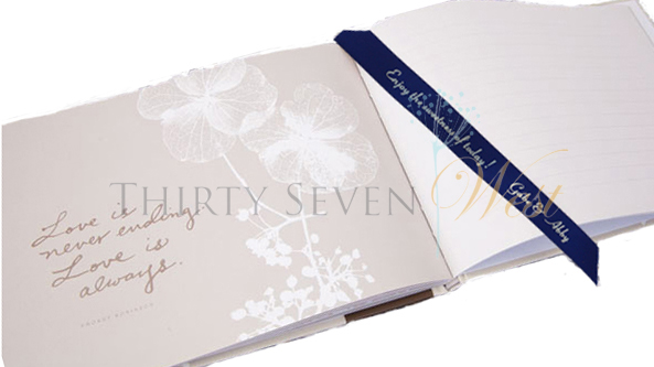 Guest Book with Personalized Ribbon