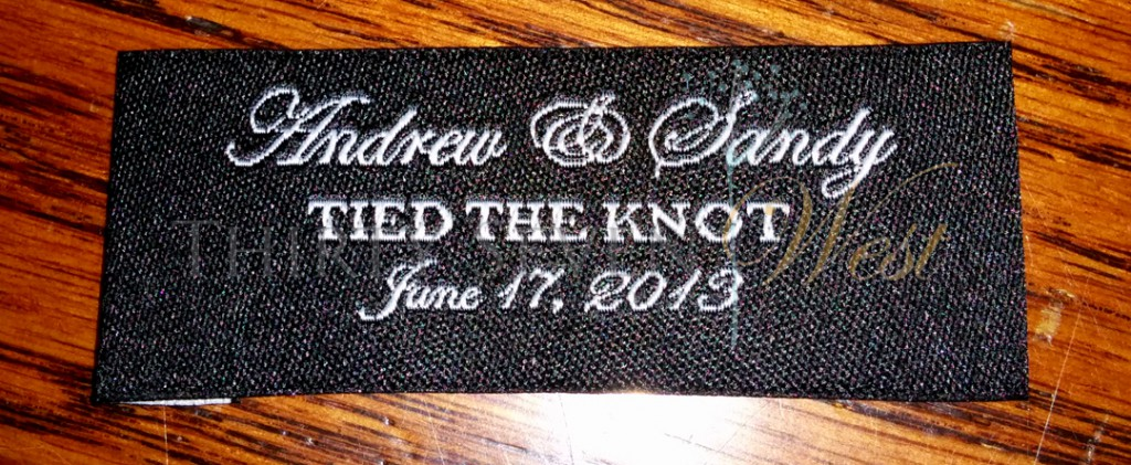 Tied the Knot Wedding Label