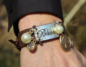 Blessed Leather Bracelet