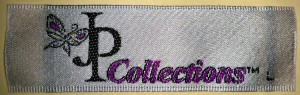 JP Collections Custom Woven Satin Label