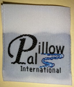Pillow Pals Custom Woven Taffeta Label