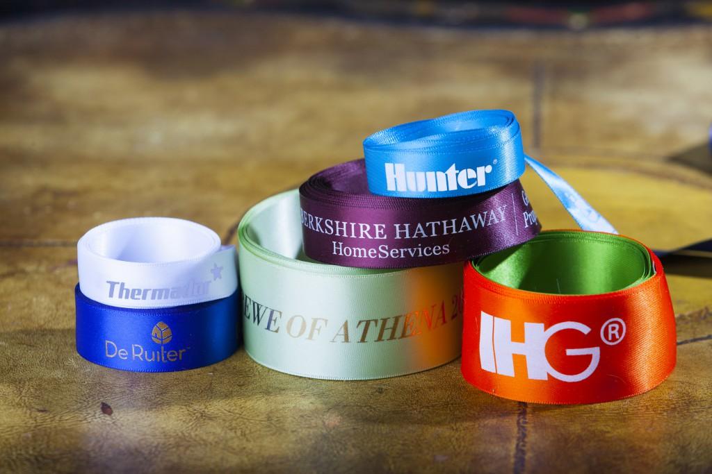 Custom Logo Ribbon, company branding, Berkshire Hathaway