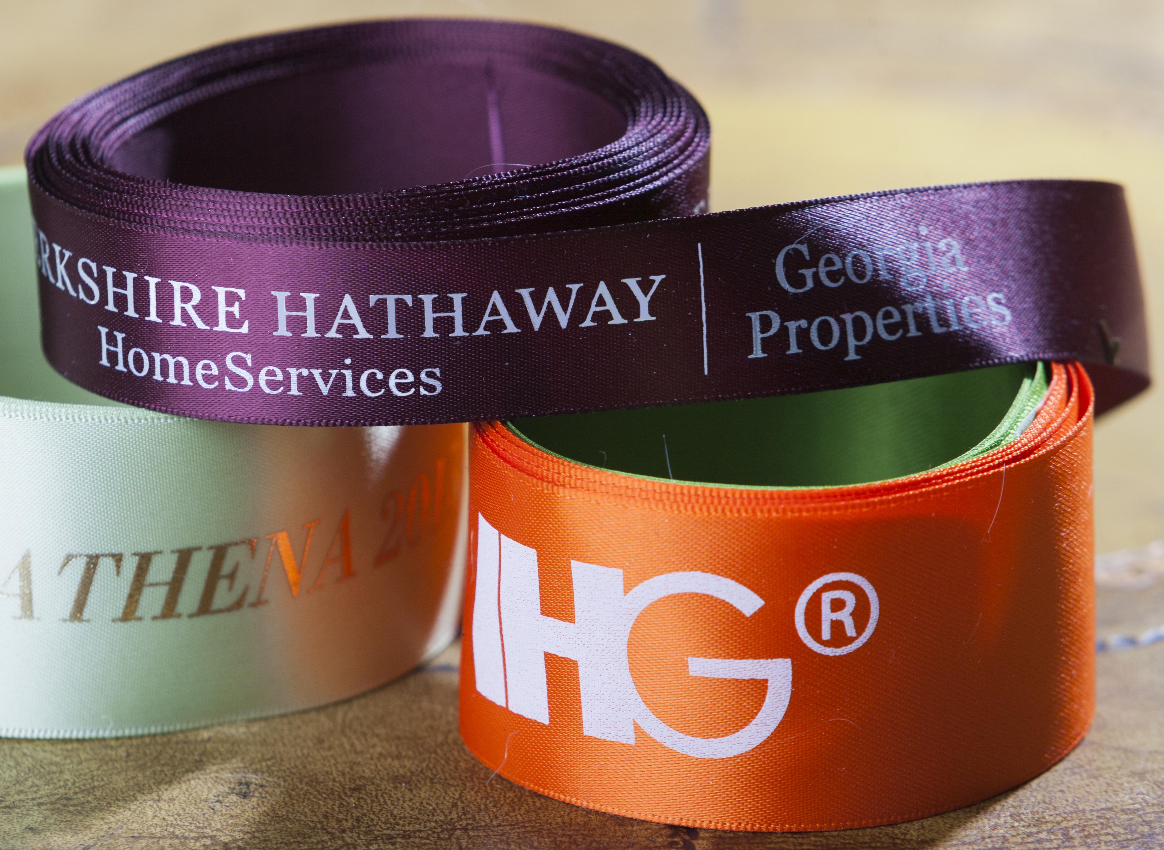 custom logo ribbon, personalized ribbon, personalized logo ribbon, custom printed ribbon, event ribbon