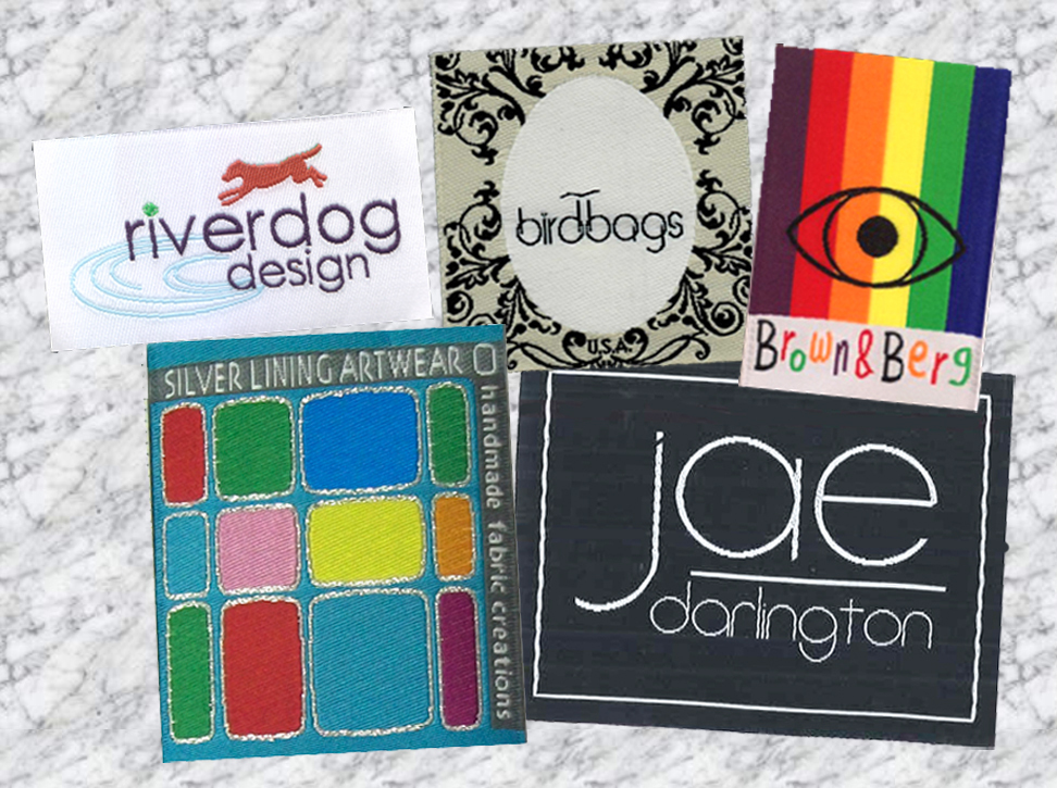 custom woven labels, designer labels,  clothing labels, clothing tags