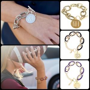 Enamel link bracelet, henson link bracelet, silver link bracelet, gold bracelet, monogrammed bracelet, personalized bracelet, monogrammed charm, BLACK FRIDAY SALE