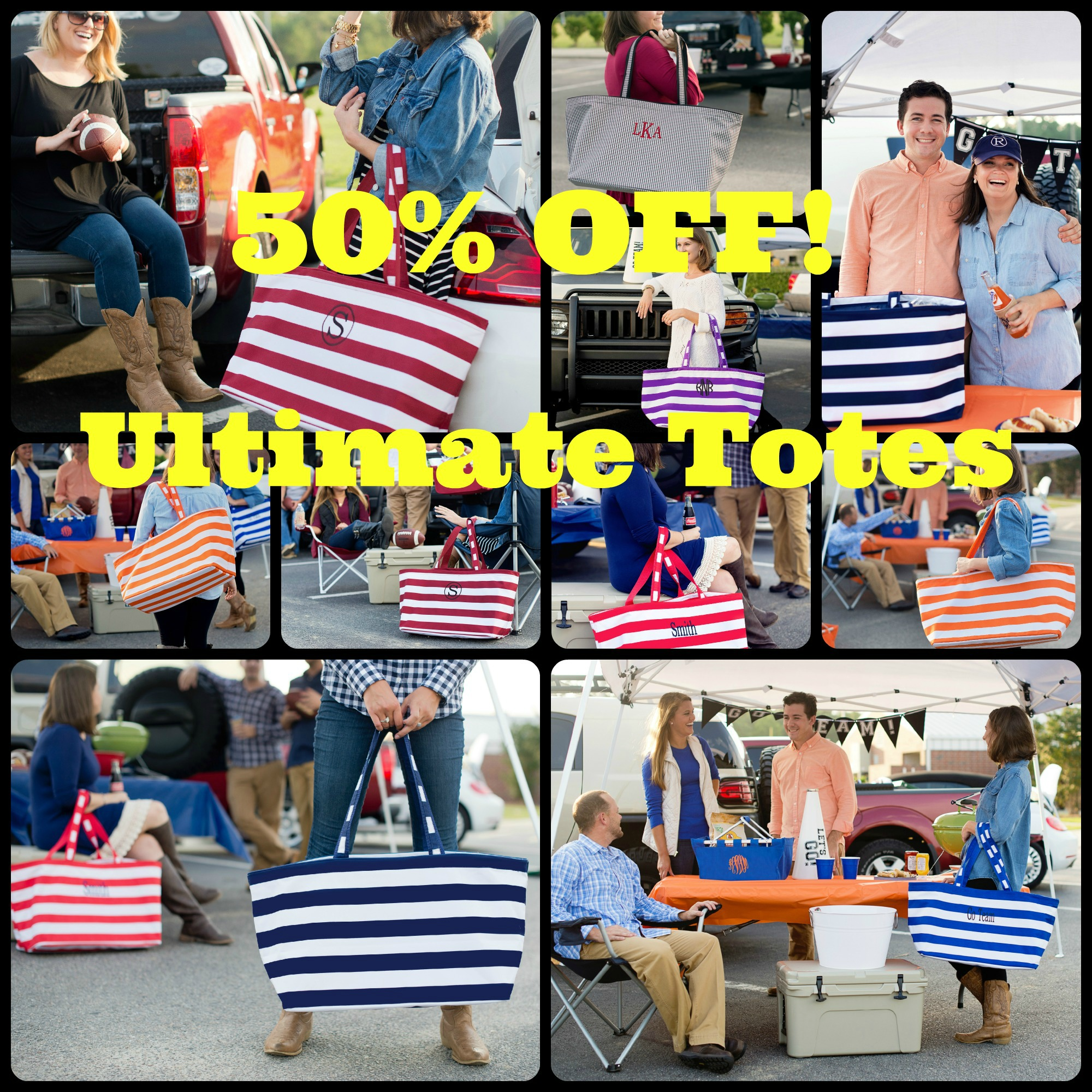 50% Off Ultimate Totes, farmers market tote, utility tote, striped tote, houndstooth tote bags, tote bags, striped tote bags,