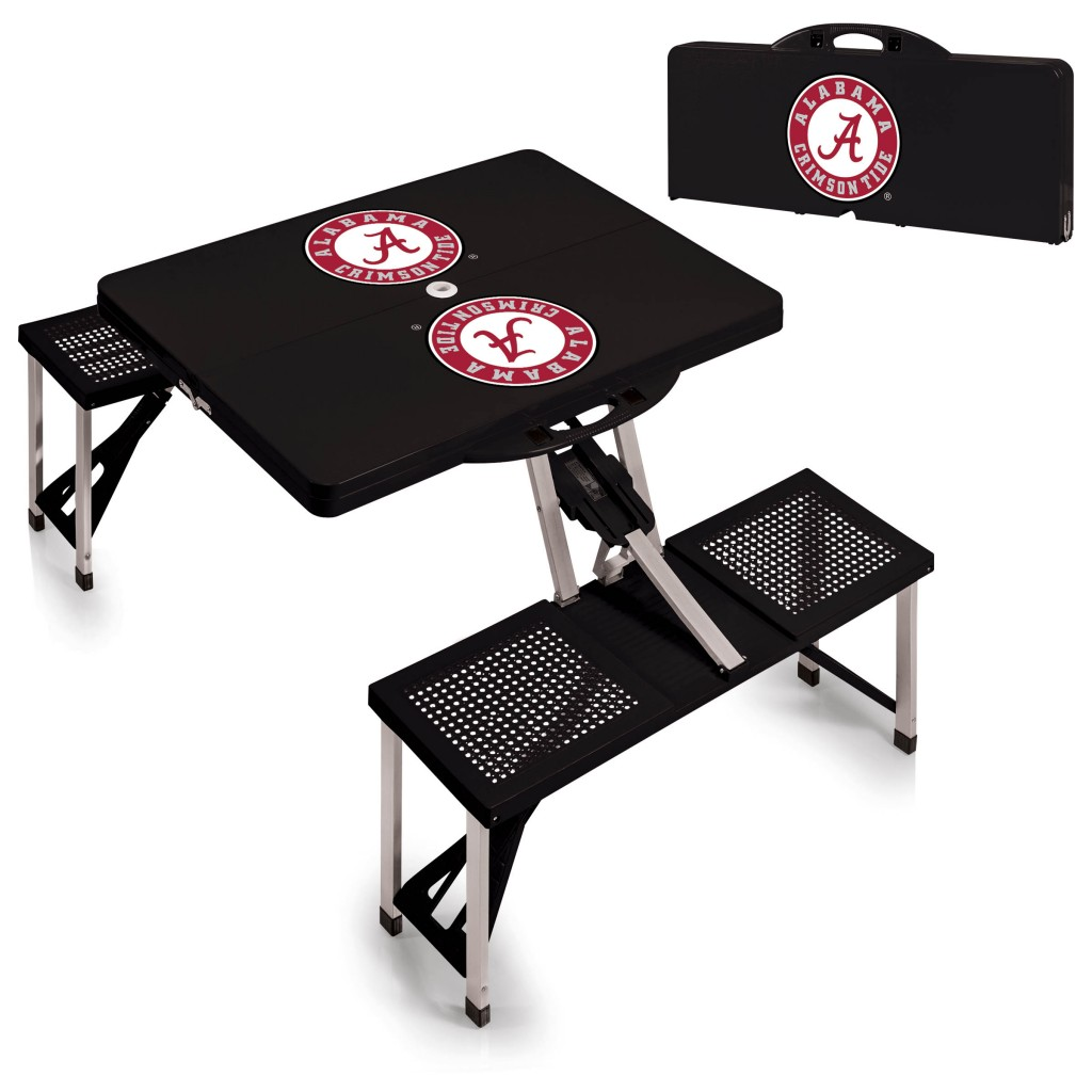 University of Alabama Folding Travel Picnic Table, University of Alabama, Alabama, Travel picnic table, Alabama table