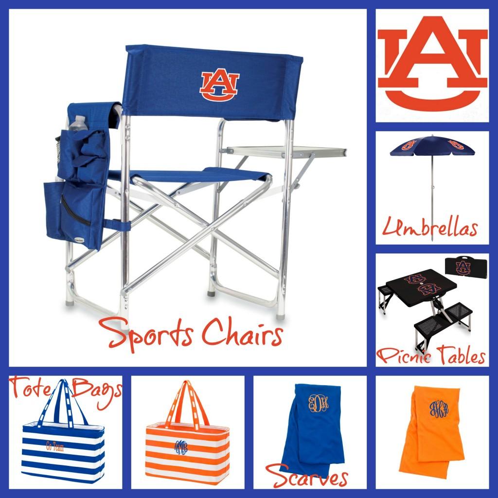 Auburn University, Auburn Scarf, Auburn Tote Bag. Monogrammed Auburn Scarf, personalized Auburn Bag, Auburn Umbrella, Auburn Sports Chair, Auburn Picnic Table, Travel picnic table, travel chair,
