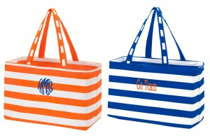 Auburn University Tote Bags, Auburn University, Auburn Game Day Bags, Auburn Game Day Tote, Orange striped bag, blue striped bag, personalized Auburn University Tote Bags, monogrammed Auburn University Tote Bags,  personalized tote, monogrammed tote