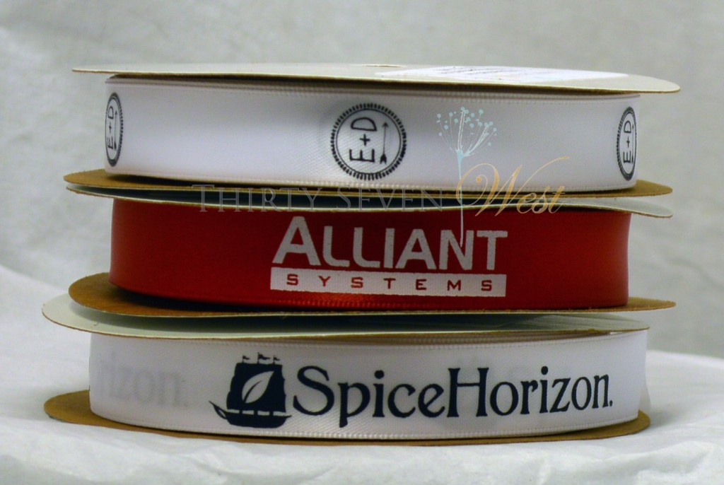 "5/8"" Custom Printed Logo Ribbon, Printed ribbon, Logo ribbon, company ribbon, corporate ribbon, personalized printed ribbon, custom logo, company logo ribbon, Red Ribbon, White Ribbon, Satin Ribbon, Double Face Satin Ribbon, custom ribbon"