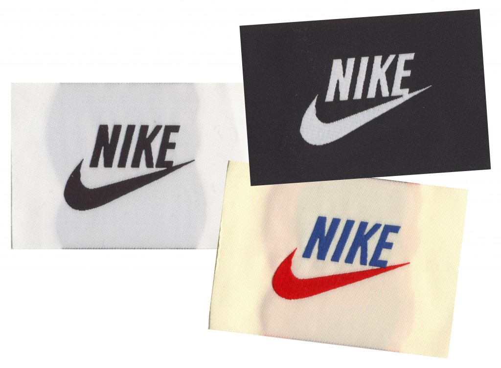 Nike Custom Woven Labels, custom labels, custom woven labels, clothing labels, apparel labels, designer labels, cloth labels, labels for clothing, nike, nike athletics,