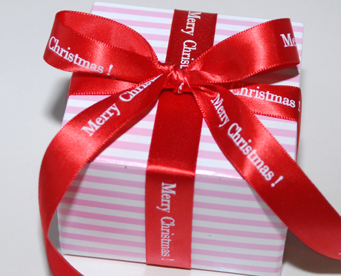 Personalized Printed Satin Christmas Ribbon, Christmas Ribbon, Satin Ribbon , Personalized Ribbon, Red ribbon, Red Christmas Ribbon, personalized red ribbon, gift wrap, personalized gift wrap