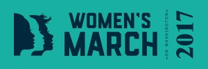 womens-march-on-washington-2017-ribbon million women march womens rights march womens activist march womens lgbtq  washington dc trump march January 21st 2017 1/21/17 planned parenthood womens suffrage green on navy womens march logo