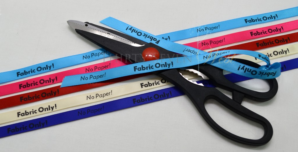 Scissor Ribbon, Ribbon Scissors, Fabric Only Scissor Ribbon, Ribbon to indicate Fabric only scissors, Fabric Scissors, Fabric only Scissors, Ribbon only scissors