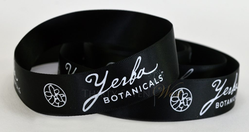 Custom Logo Ribbons, Permanent White on Black Ribbon, Custom Ribbon Printing, Business Logo Ribbon, Logo Ribbons