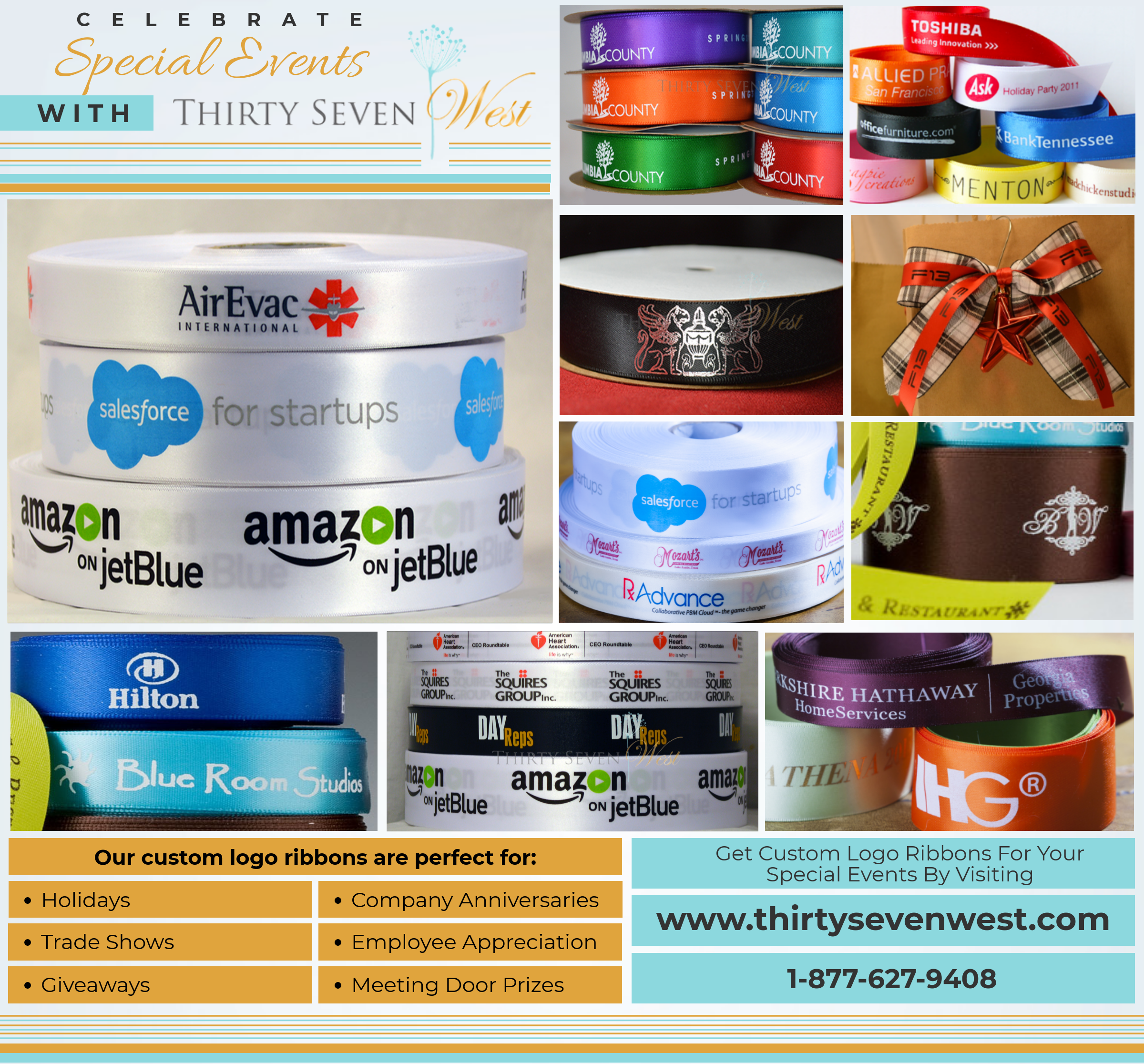 Custom Logo Ribbon with Multi color print for corporate Gift wrap, Custom Ribbon, logo Ribbon, company ribbon, company ribbon with logo, corporate ribbon, corporate ribbon with logo, Custom Ribbons For A Corporate Event, corporate event ribbon, corporate gift wrap, event ribbon with logo, multi color printed ribbon