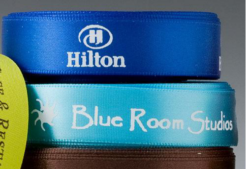 luxury satin ribbons, custom logo ribbon, Pantone Custom Ribbon, Permanent White on Satin Ribbon, Ribbon with Company logo