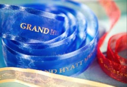 Custom Logo Ribbon, Custom Organza Ribbon, Blue Organza Ribbon
