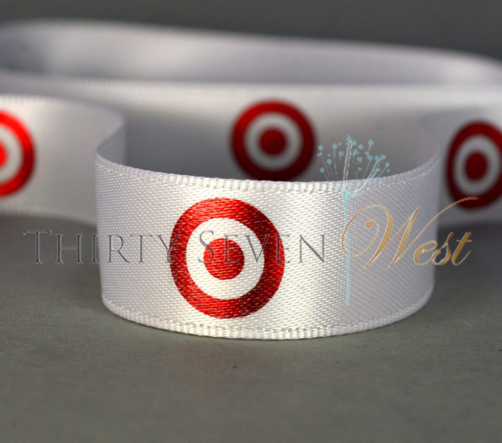 Printed Ribbon, Personalized Ribbon with Logo, Custom Ribbon with printing, Custom Ribbon, Custom logo ribbon, Company ribbon, corporate ribbon with company logo, OPI ribbon, custom printed satin ribbon with logo