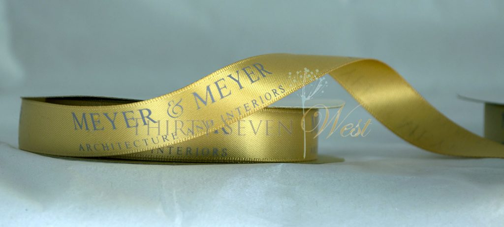 yellow ribbon, custom logo ribbon, logo ribbon, printed logo ribbon, ribbon with logo printed, promotional ribbon, branded ribbon, custom printed ribbon, company logo ribbon, business Logo ribbon.
