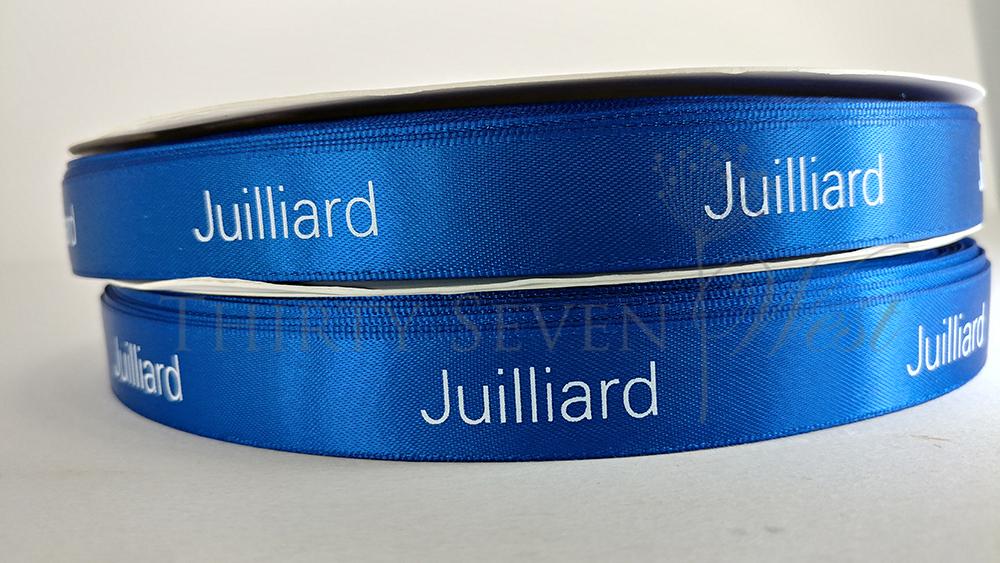 Juilliard Custom Logo Ribbon, Custom Dyed Pantone Matching Ribbon Logo, Custom Printed PMS Ribbon