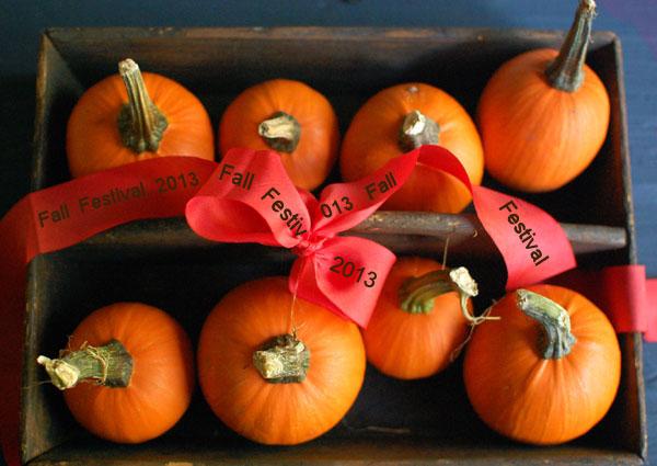 Fall Festival Printed ribbon