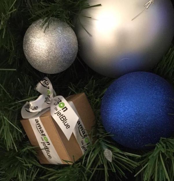 Amazon on JetBlue, Amazon, Amazon.com, JetBlue Airlines, Logo Ribbon, Personalized Ribbon, Custom Logo Ribbon, Printed Ribbon, Christmas Ribbon, Corporate Ribbon, Company Ribbon, Company Logo Ribbon, Custom Ribbon