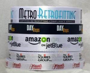 Custom Logo Ribbon, Custom Ribbon, Multi color ribbon, Corporate ribbon with logo, company ribbon with logo