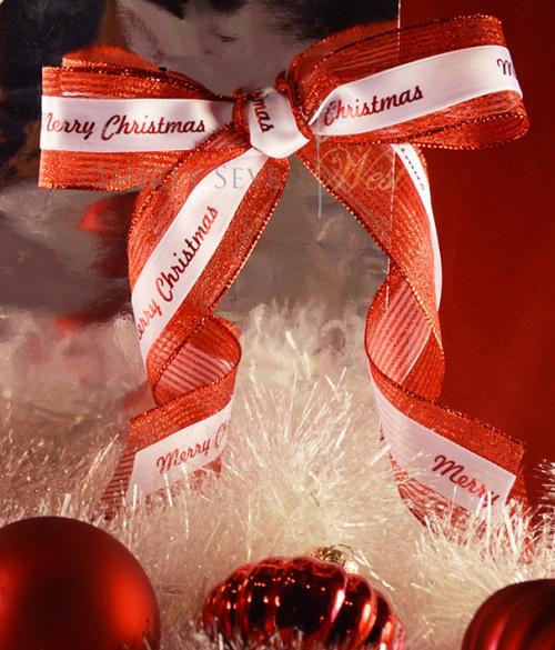 custom printed holiday ribbon